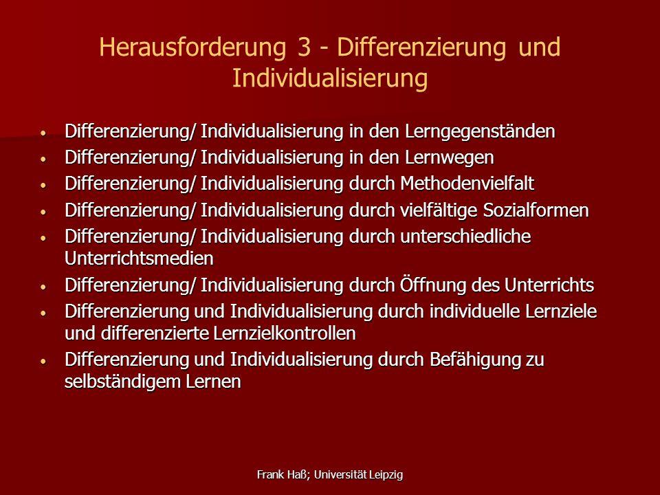 Herausforderung 3 - Differenzierung und Individualisierung