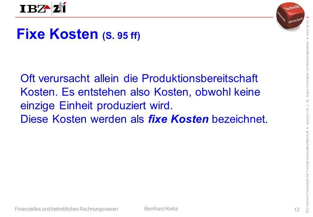 Fixe Kosten (S. 95 ff)