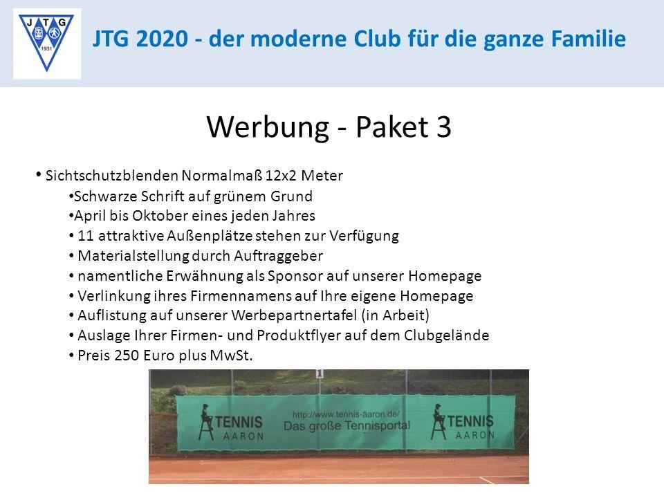 Werbung - Paket 3 JTG 2020 - der moderne Club für die ganze Familie