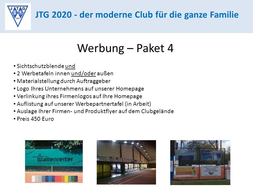 Werbung – Paket 4 JTG 2020 - der moderne Club für die ganze Familie