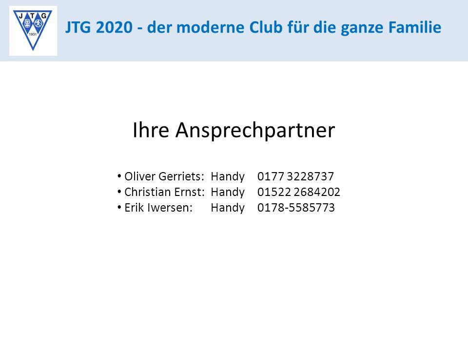 Ihre Ansprechpartner JTG 2020 - der moderne Club für die ganze Familie