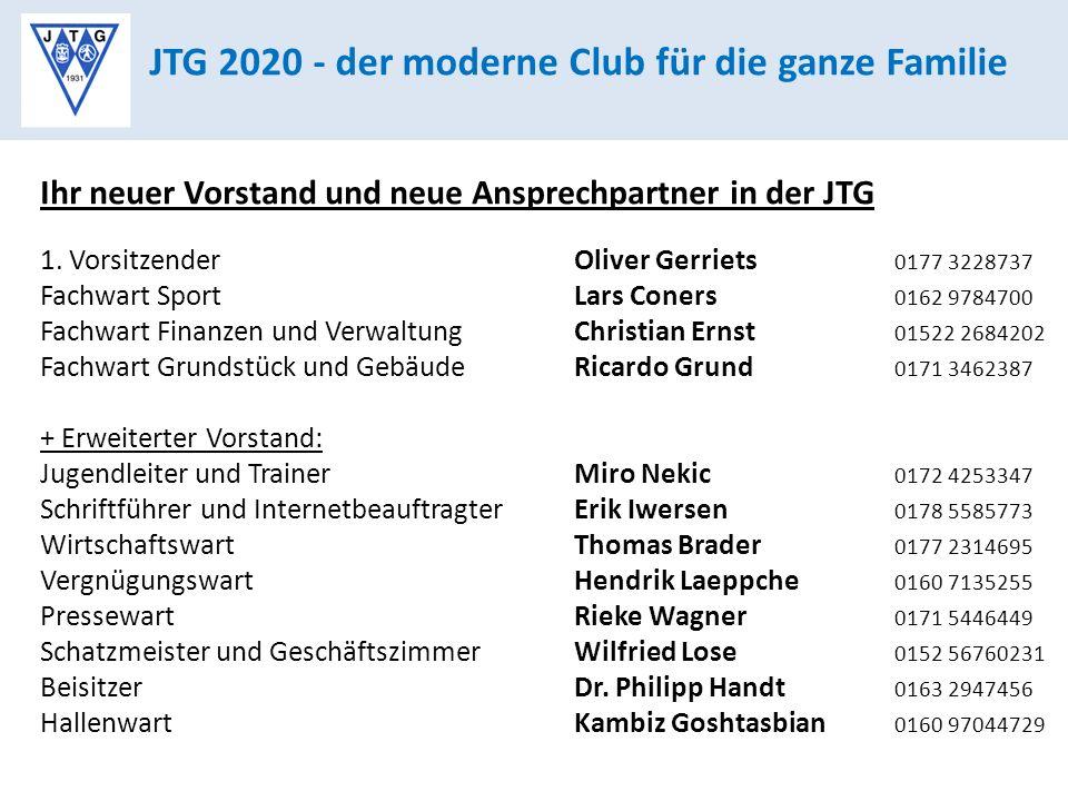 JTG 2020 - der moderne Club für die ganze Familie