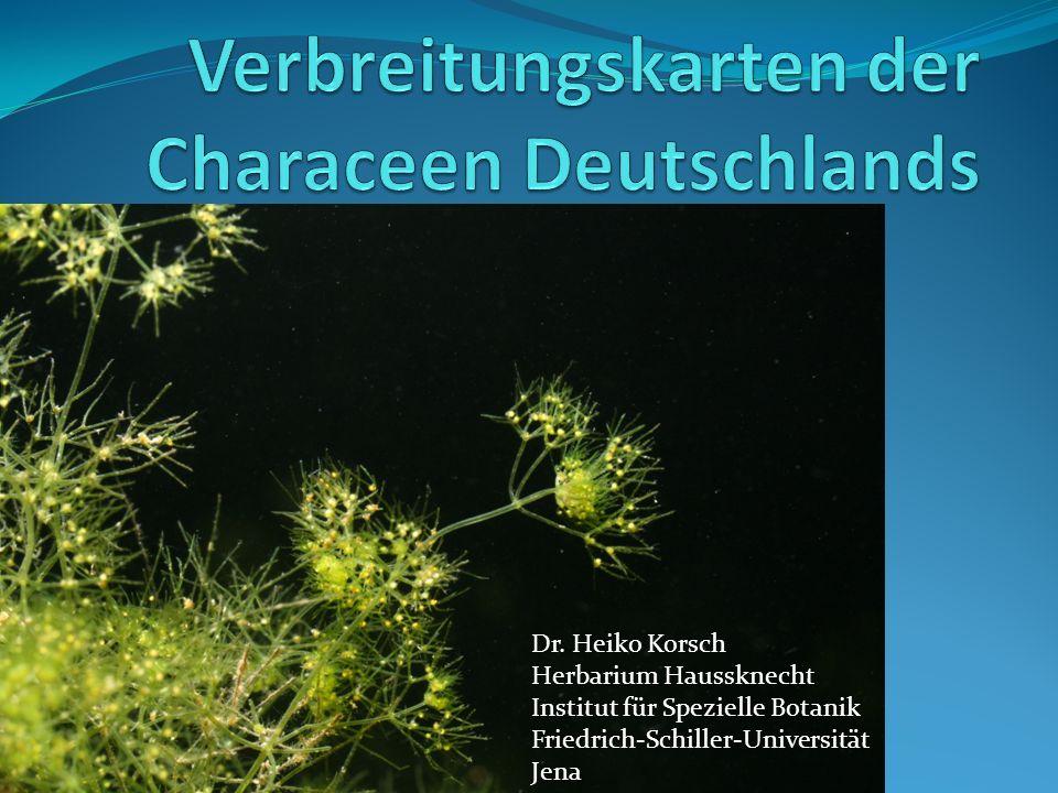 Verbreitungskarten der Characeen Deutschlands