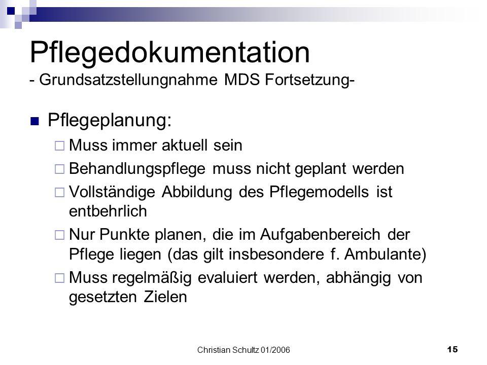 grundsatzstellungnahme mds dokumentation
