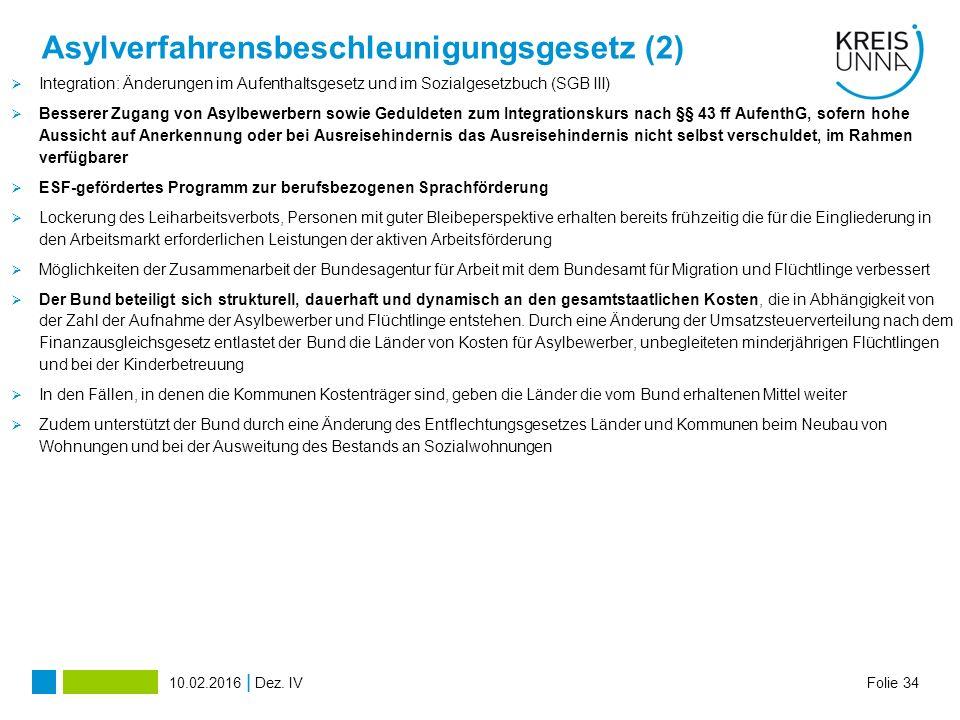 Asylverfahrensbeschleunigungsgesetz (2)
