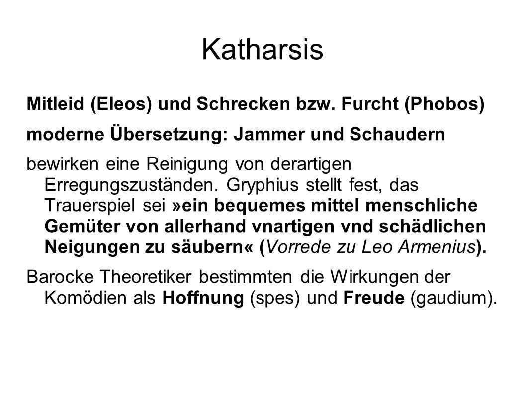 Katharsis Mitleid (Eleos) und Schrecken bzw. Furcht (Phobos)
