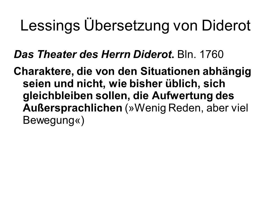 Lessings Übersetzung von Diderot