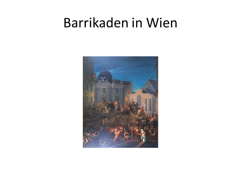 Barrikaden in Wien