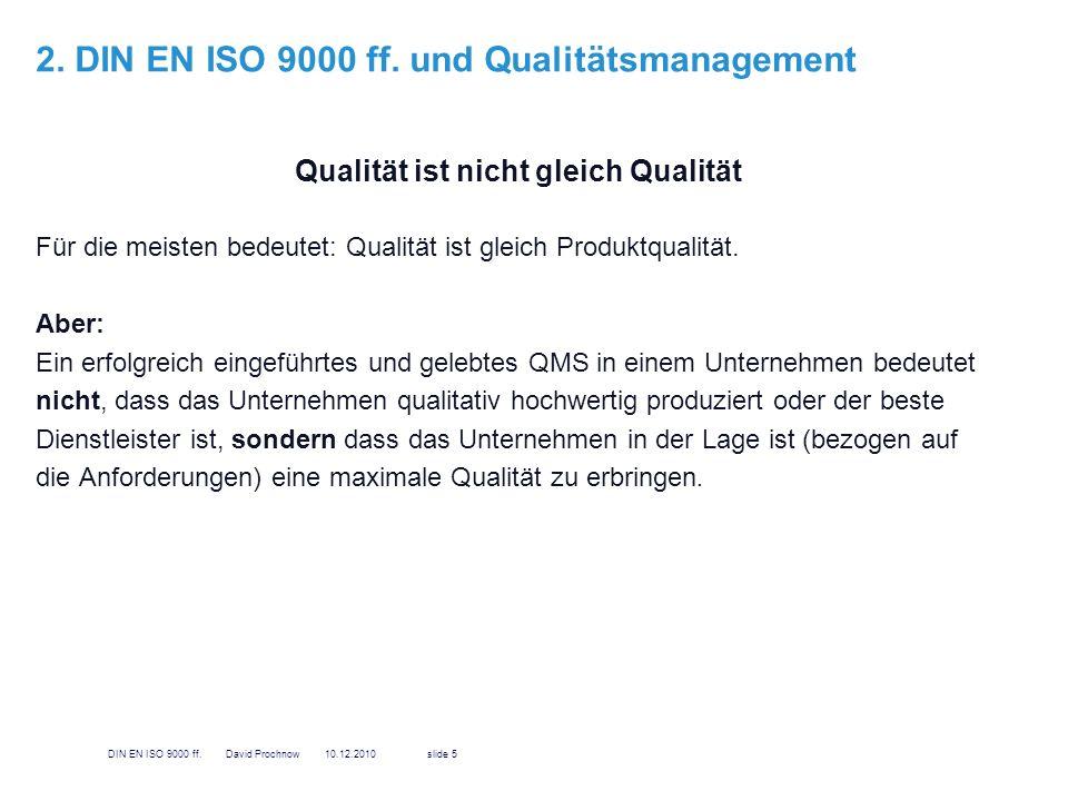 2. DIN EN ISO 9000 ff. und Qualitätsmanagement
