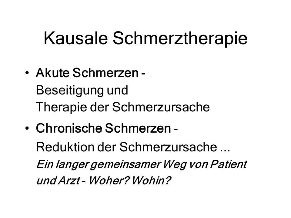 Kausale Schmerztherapie