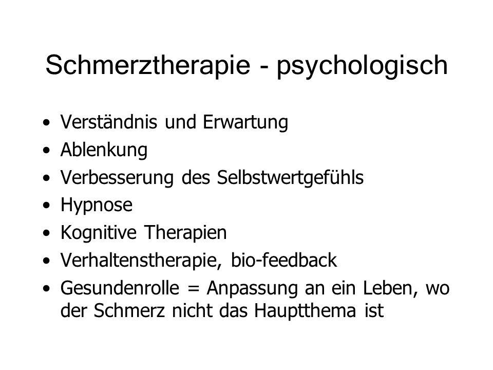 Schmerztherapie - psychologisch
