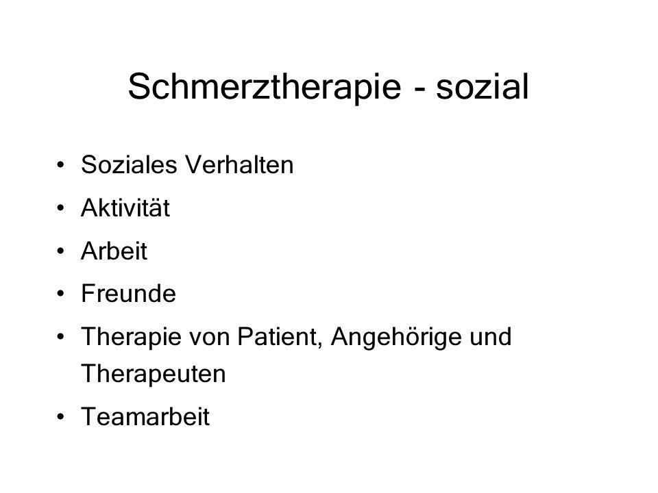 Schmerztherapie - sozial