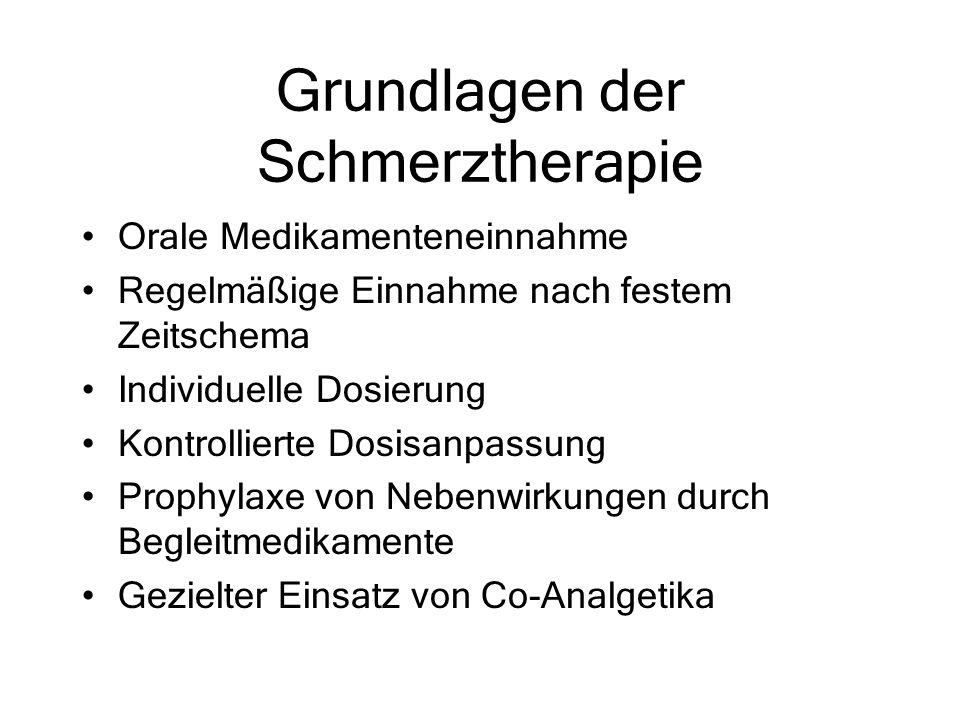 Grundlagen der Schmerztherapie