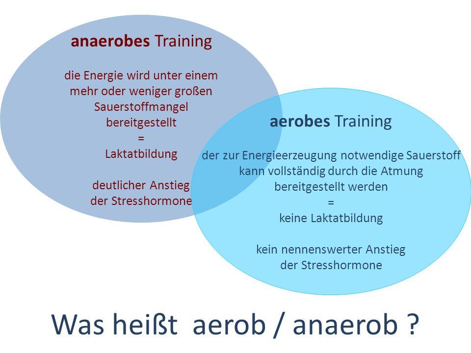 Was heißt aerob / anaerob