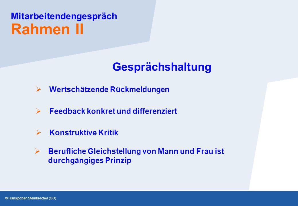 Mitarbeitendengespräch Rahmen II