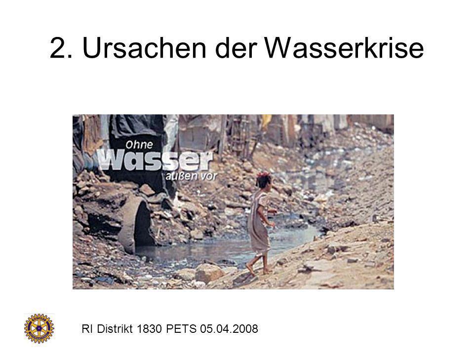2. Ursachen der Wasserkrise