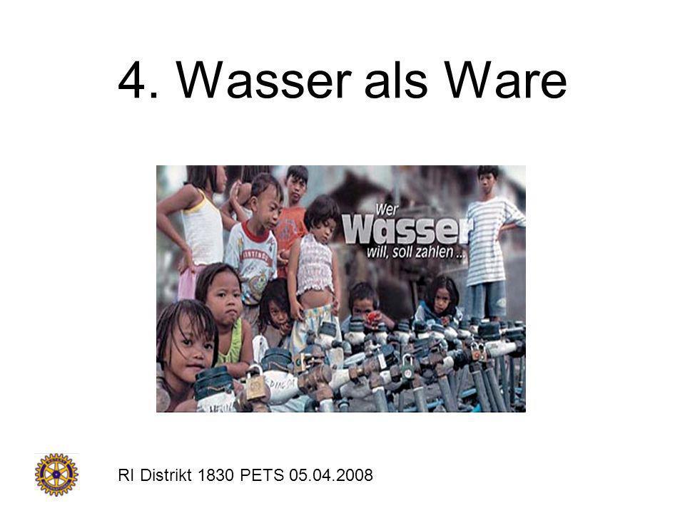 4. Wasser als Ware