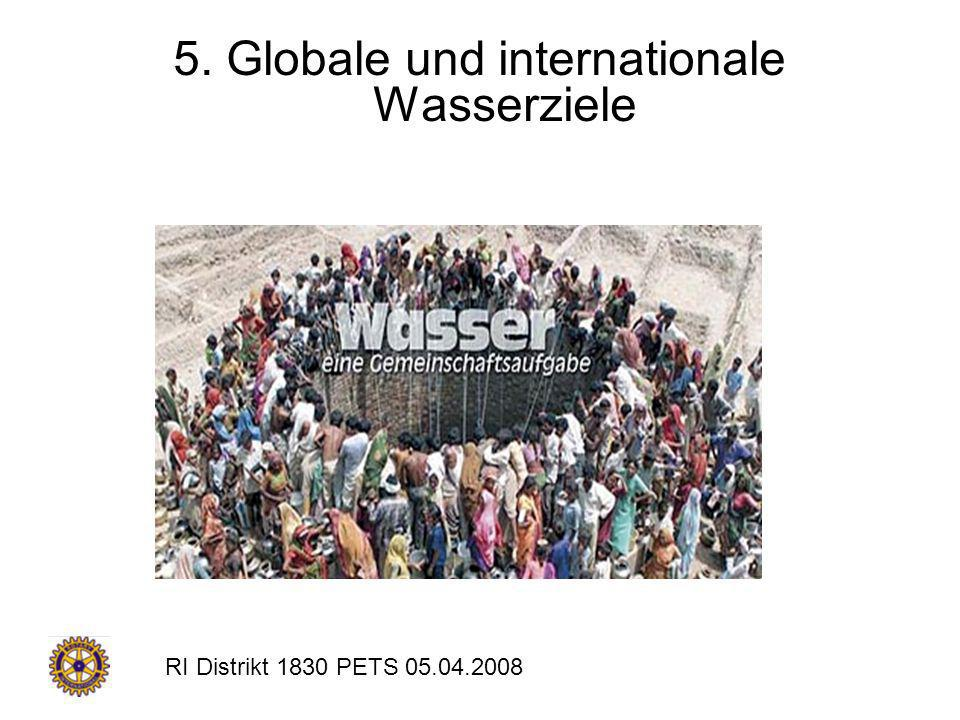5. Globale und internationale Wasserziele