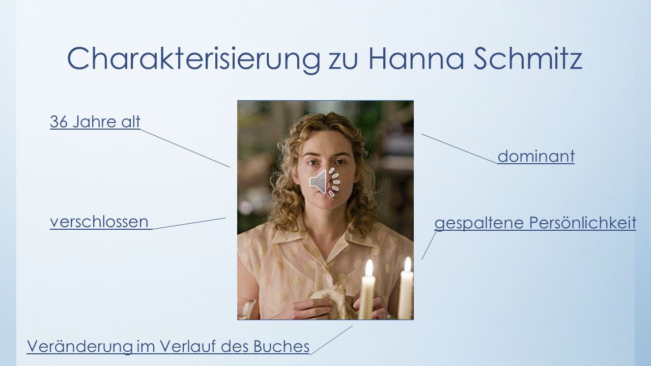 Charakterisierung zu Hanna Schmitz