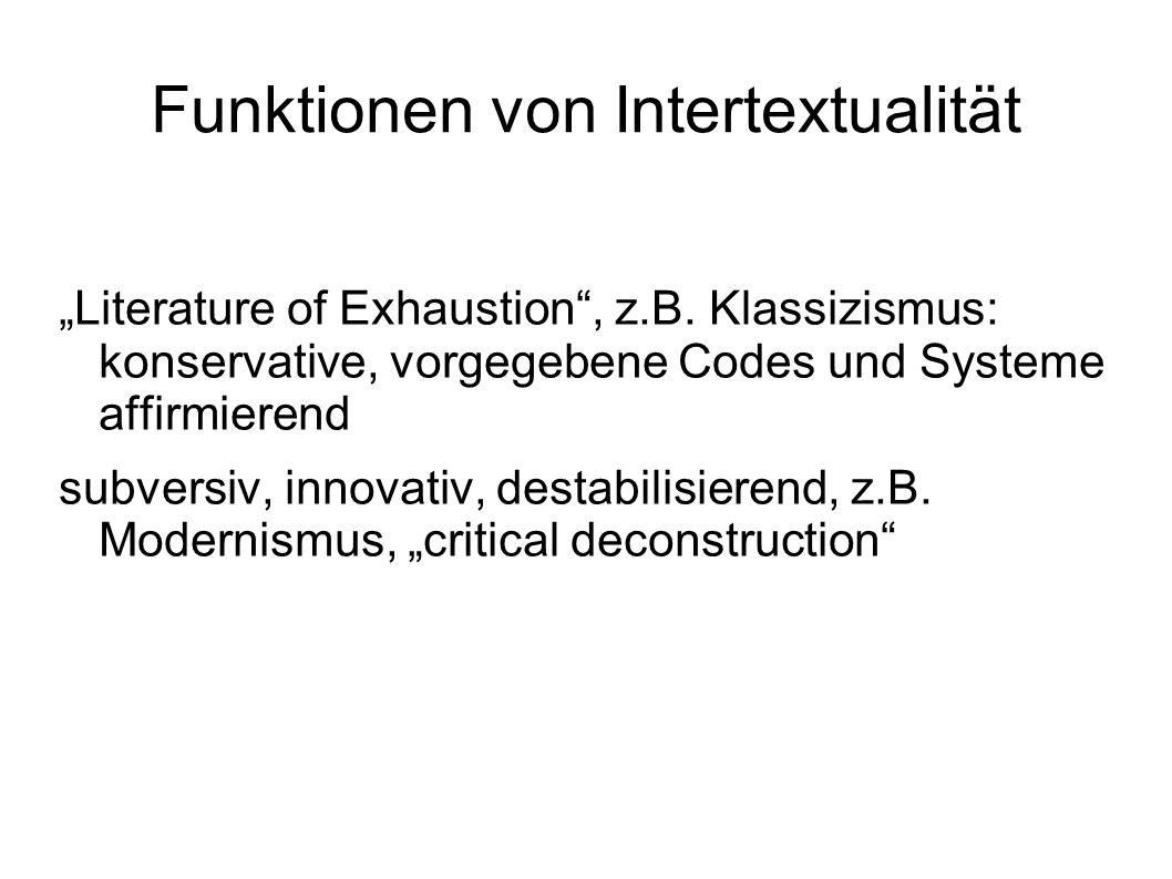 Funktionen von Intertextualität