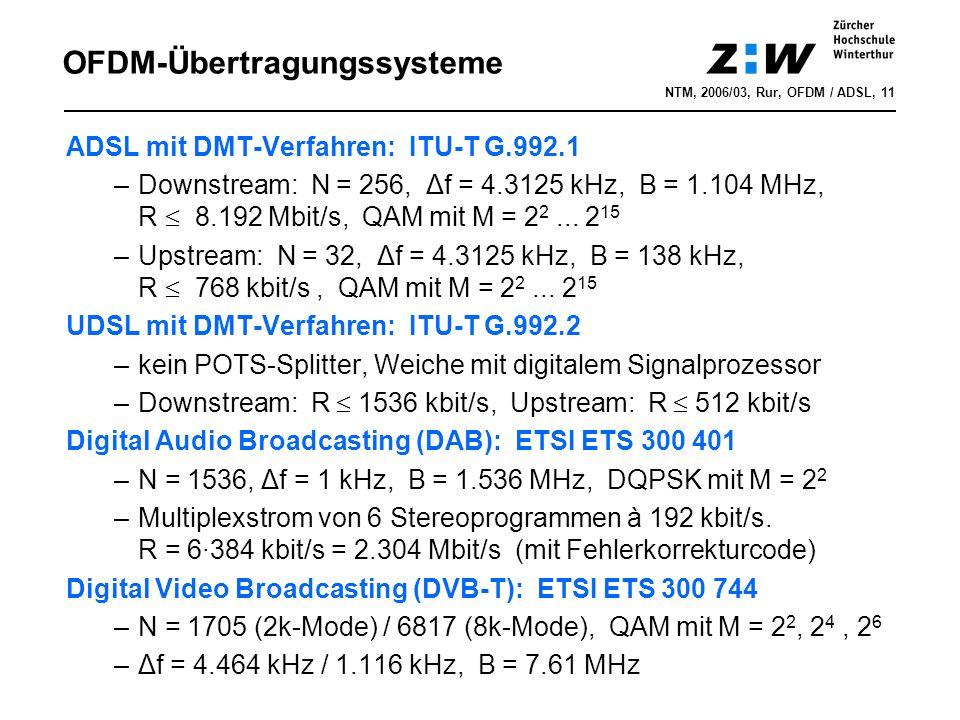 OFDM-Übertragungssysteme