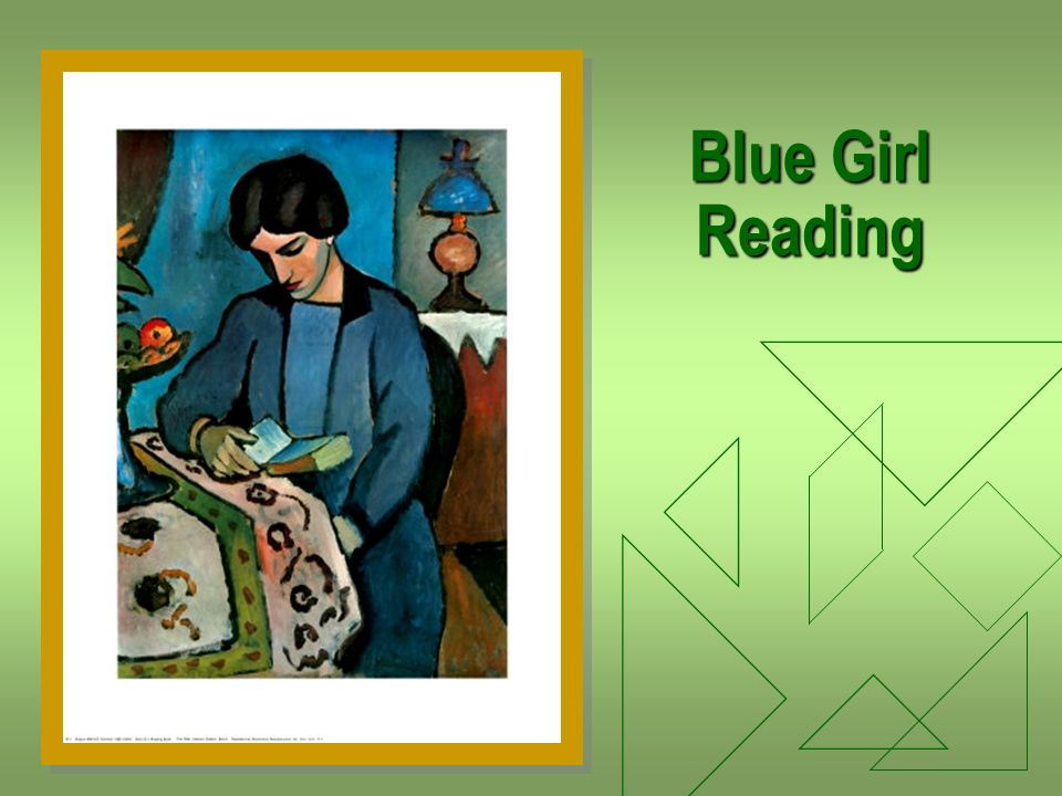 Blue Girl Reading