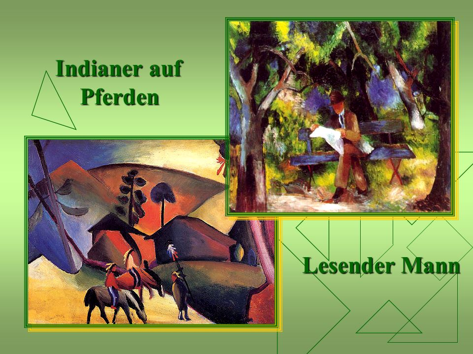 Indianer auf Pferden Lesender Mann