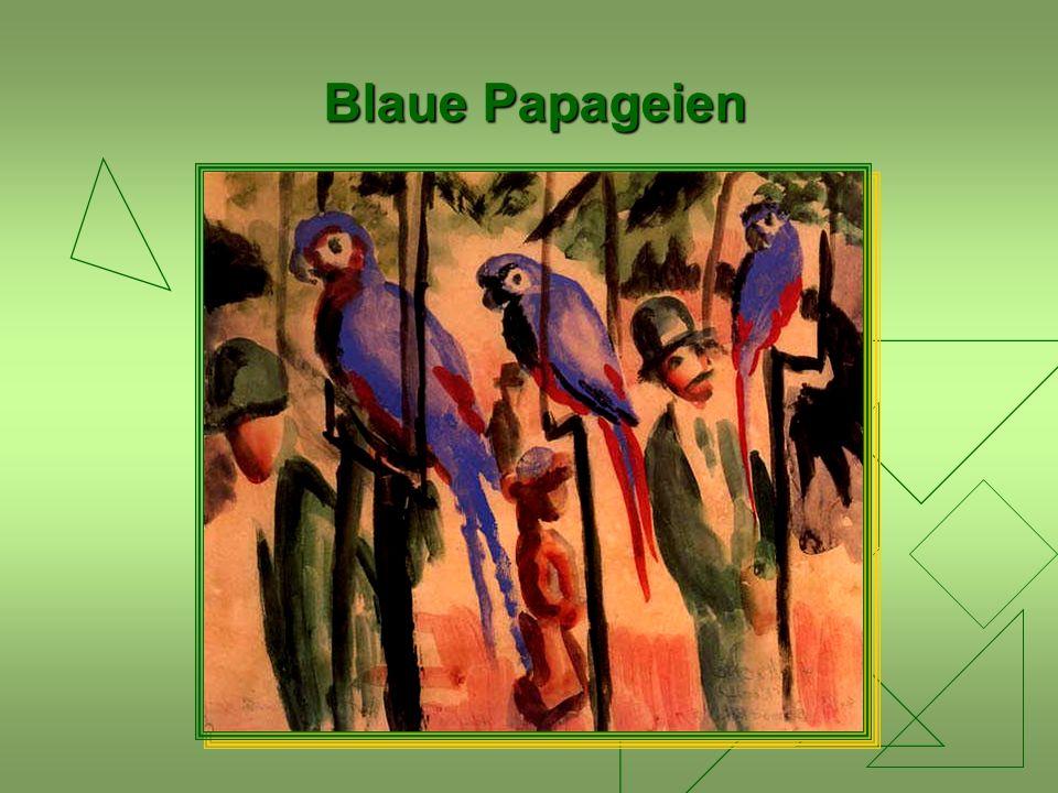 Blaue Papageien