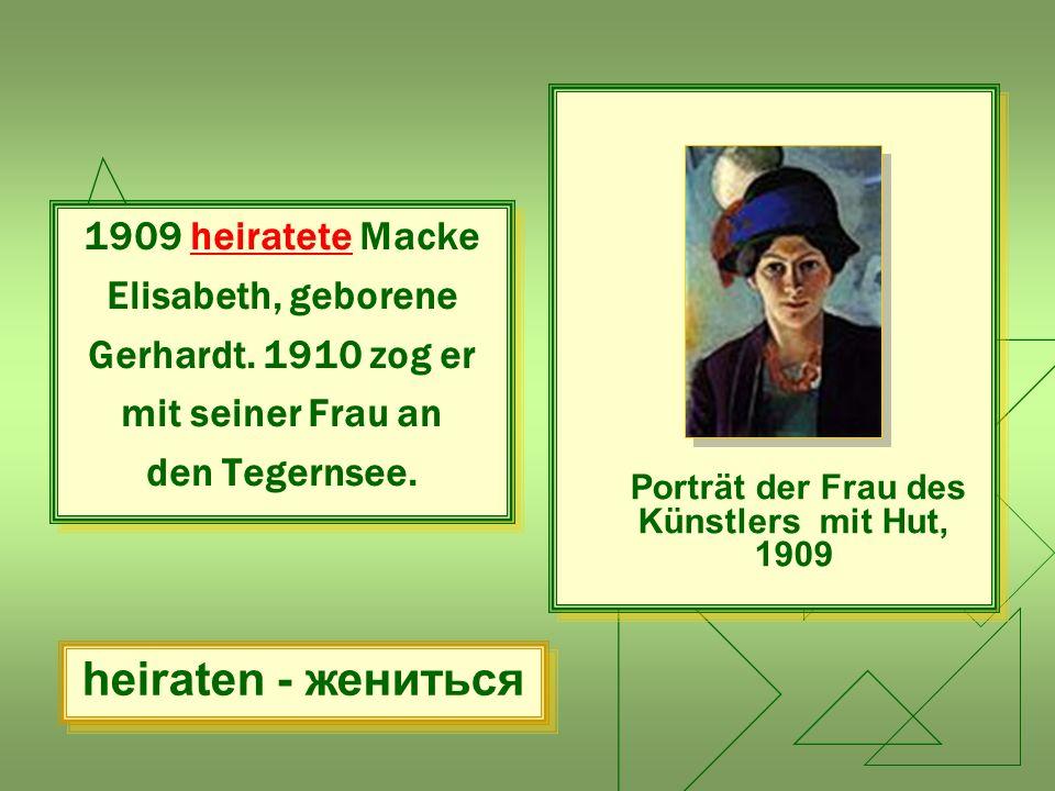 Porträt der Frau des Künstlers mit Hut, 1909