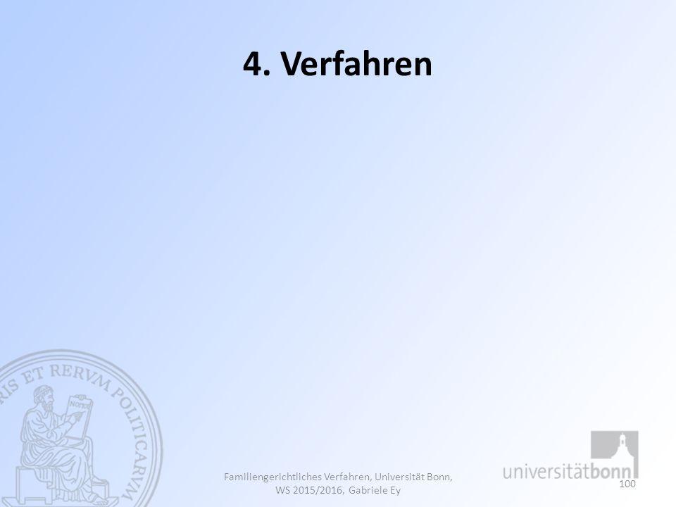 4. Verfahren Familiengerichtliches Verfahren, Universität Bonn, WS 2015/2016, Gabriele Ey