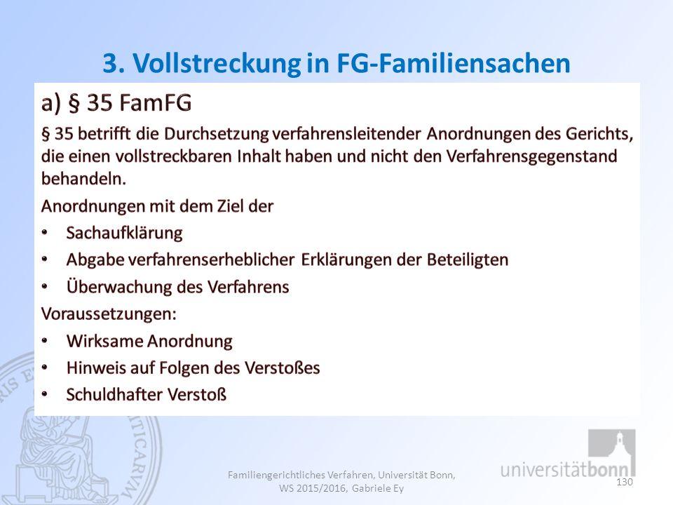 3. Vollstreckung in FG-Familiensachen