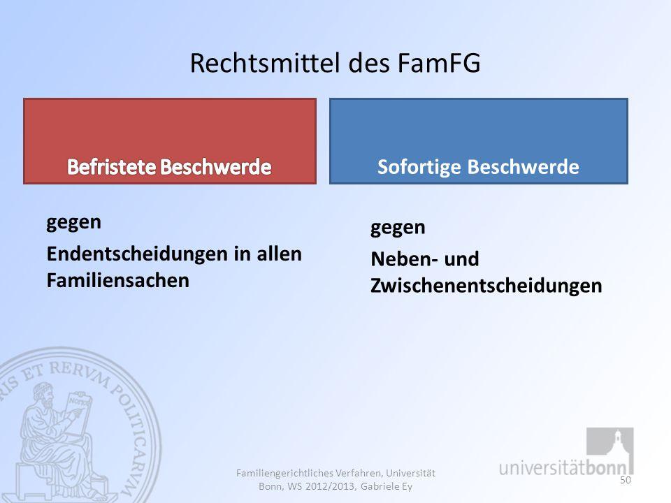 Rechtsmittel des FamFG