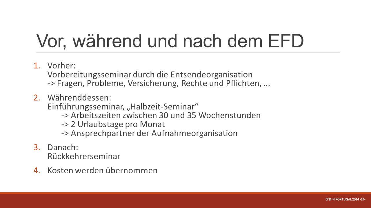 Vor, während und nach dem EFD