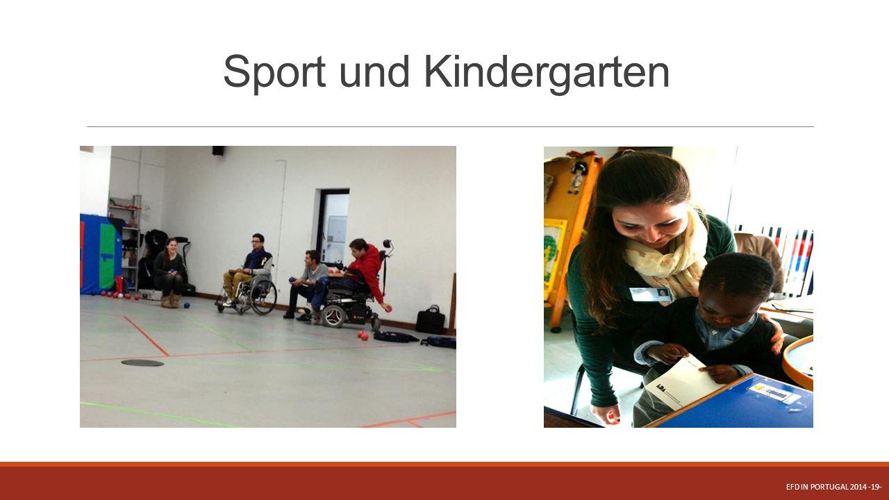 Sport und Kindergarten