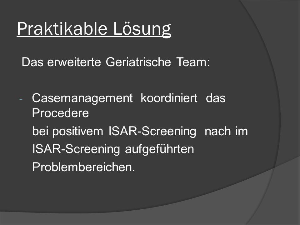 Praktikable Lösung Das erweiterte Geriatrische Team: