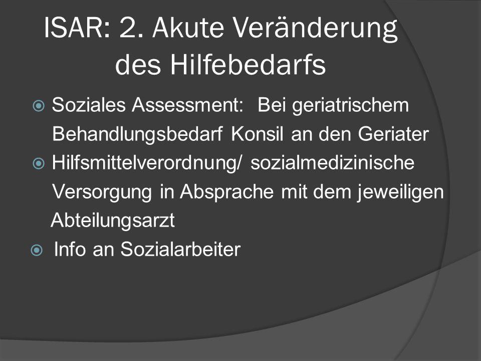 ISAR: 2. Akute Veränderung des Hilfebedarfs