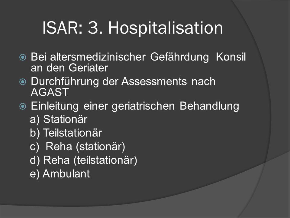ISAR: 3. Hospitalisation
