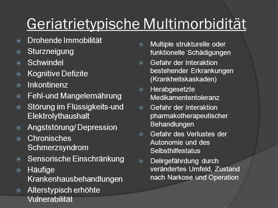 Geriatrietypische Multimorbidität