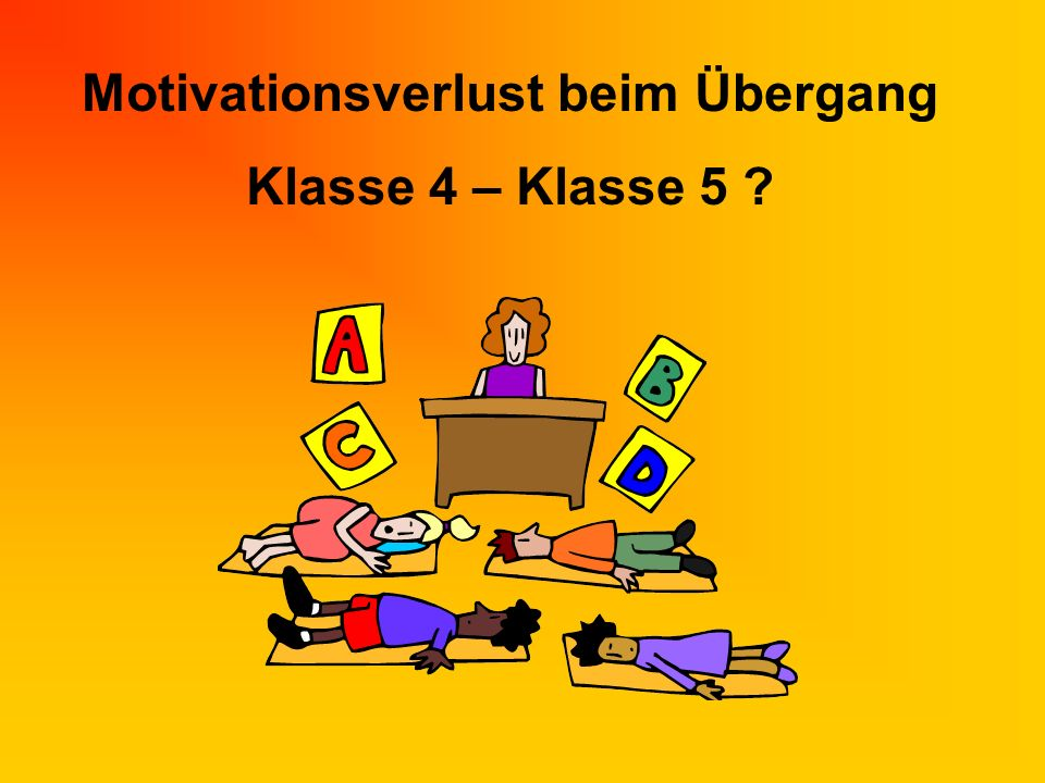 Motivationsverlust beim Übergang