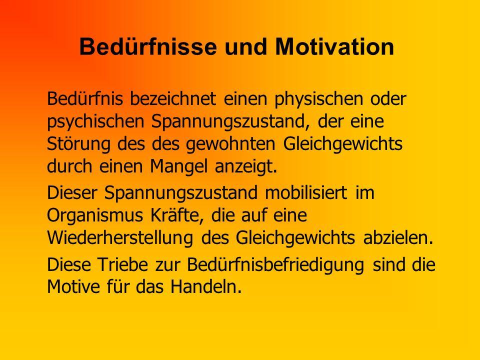 Bedürfnisse und Motivation