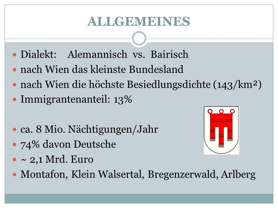 ALLGEMEINES Dialekt: Alemannisch vs. Bairisch
