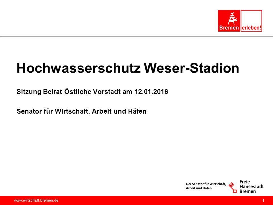 Hochwasserschutz Weser-Stadion