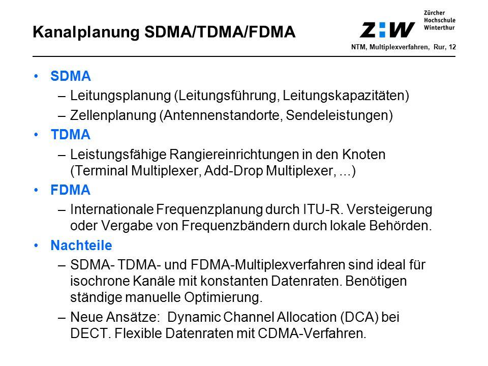 Kanalplanung SDMA/TDMA/FDMA