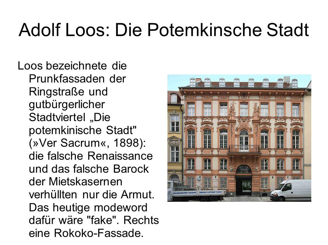 Adolf Loos: Die Potemkinsche Stadt