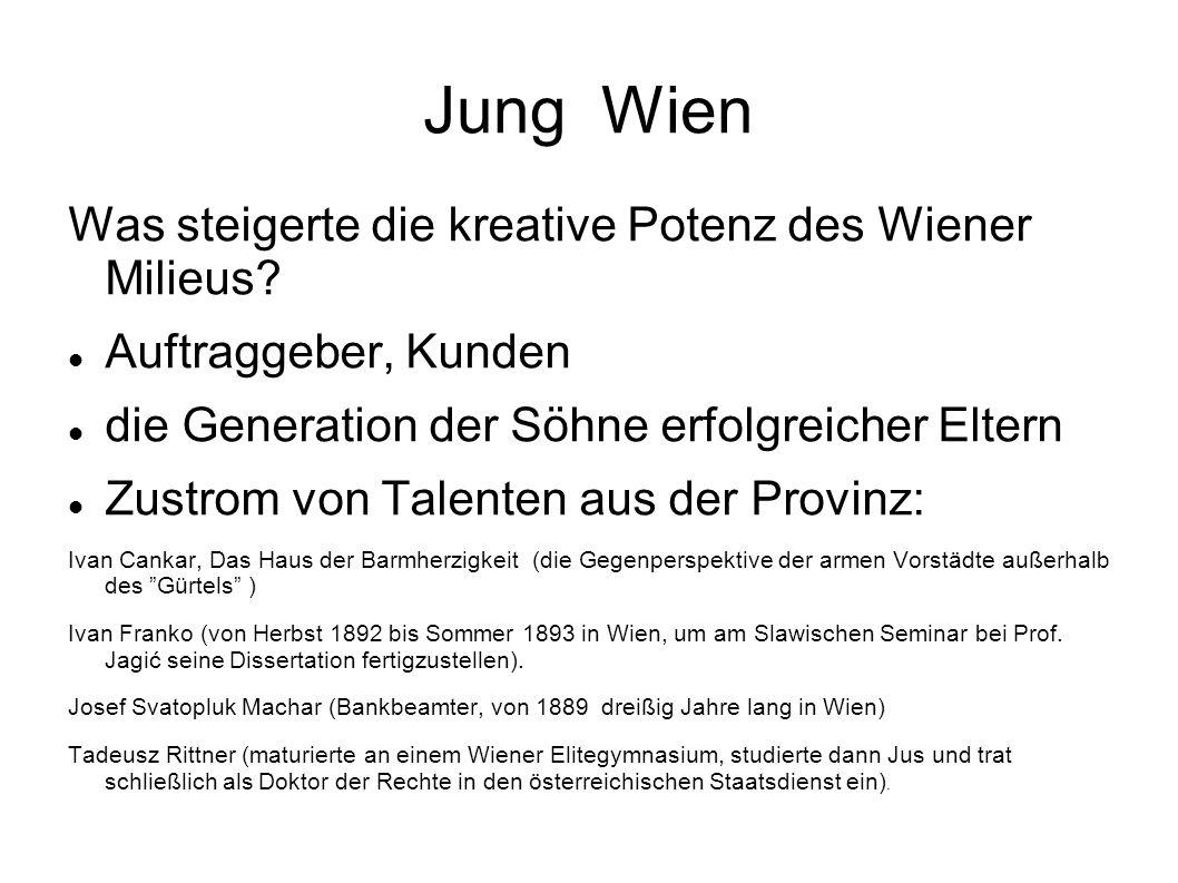 Jung Wien Was steigerte die kreative Potenz des Wiener Milieus