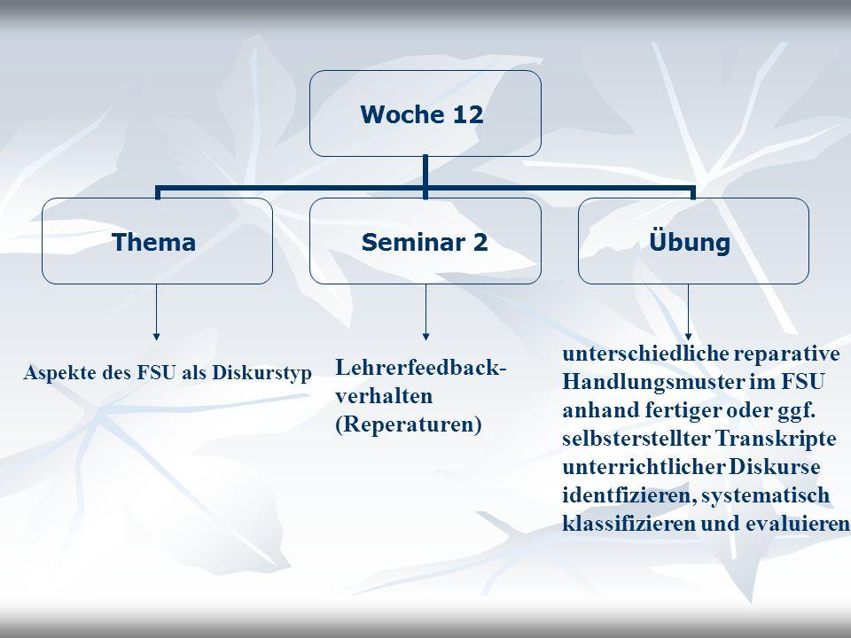 Lehrerfeedback-verhalten (Reperaturen)