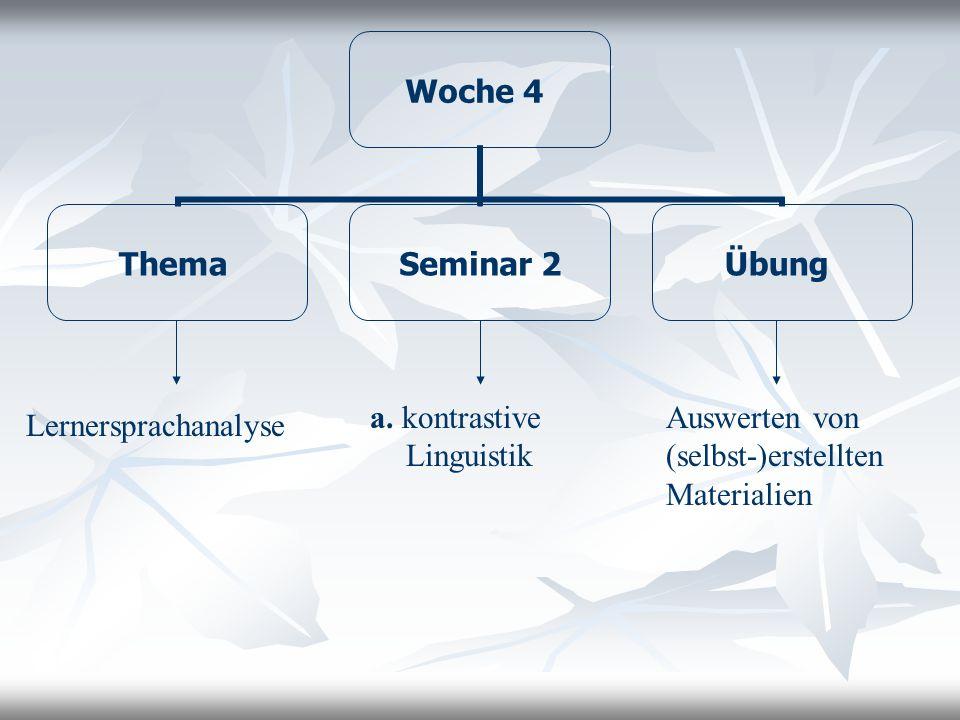 a. kontrastive Linguistik