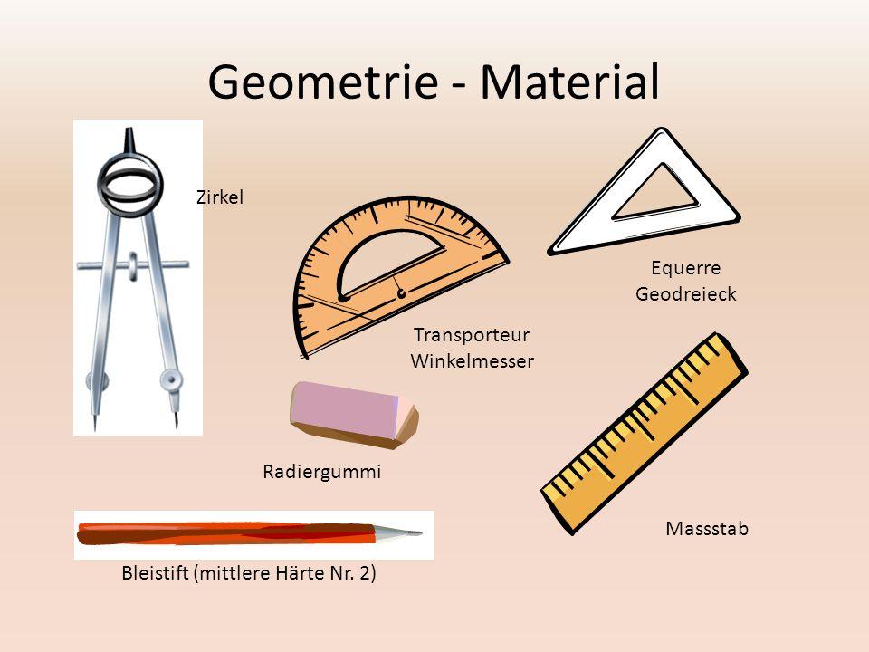 Geometrie - Material Zirkel Equerre Geodreieck Transporteur