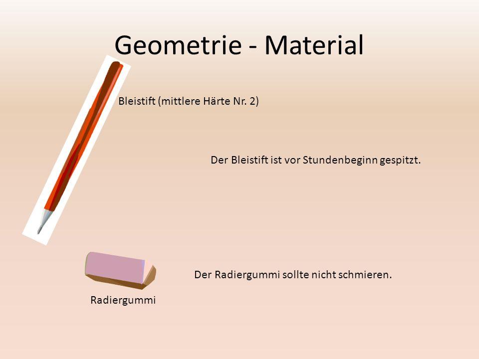 Geometrie - Material Bleistift (mittlere Härte Nr. 2)