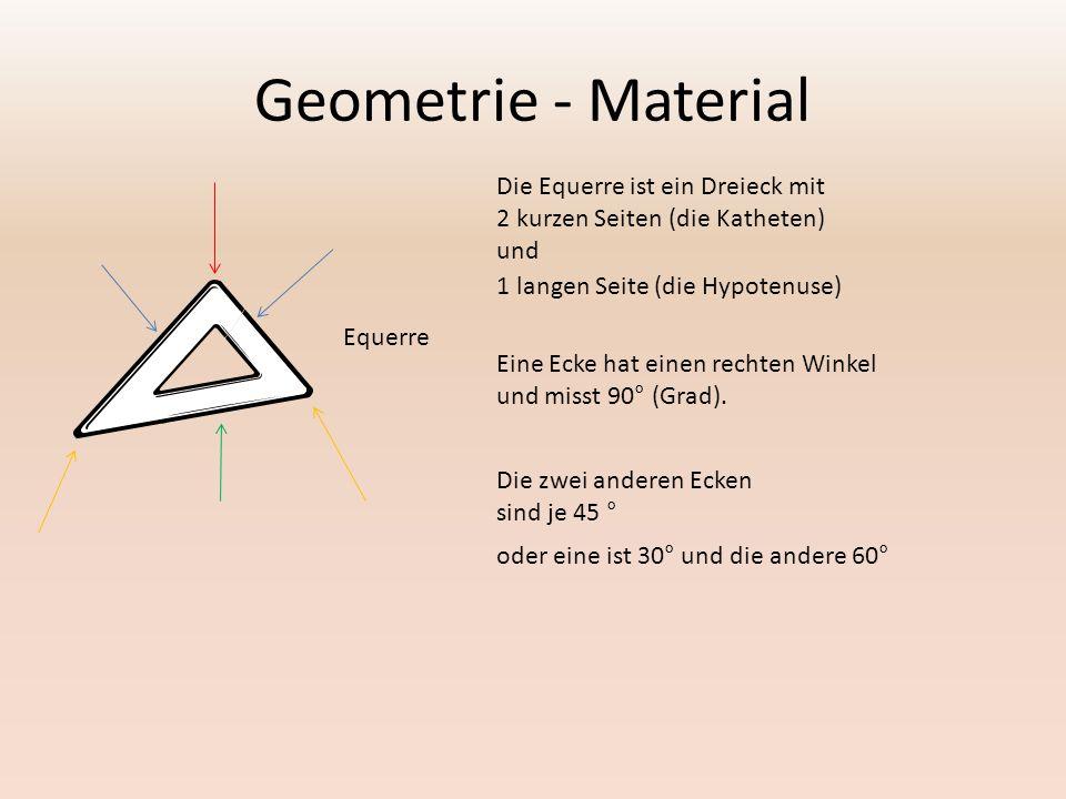 Geometrie - Material Die Equerre ist ein Dreieck mit